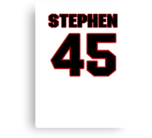 NFL Player Stephen Campbell fortyfive 45 Canvas Print
