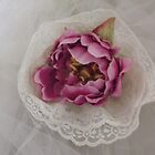 """sonia"" silk flower wedding headpiece!  beautiful with a veil or by itself.  candace bridal collectables by candace lauer"