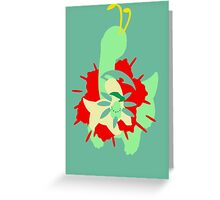 【11800+ views】Pokemon  Chicorita>Bayleef>Meganium Greeting Card