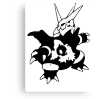 【17800+ views】Pokemon  Aron>Lairon>Aggron Canvas Print