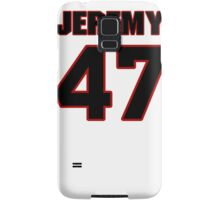 NFL Player Jeremy Kimbrough fortyseven 47 Samsung Galaxy Case/Skin