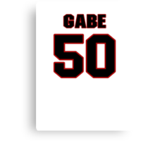 NFL Player Gabe Miller fifty 50 Canvas Print
