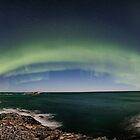 Aurora panorama at Bleik by Frank Olsen