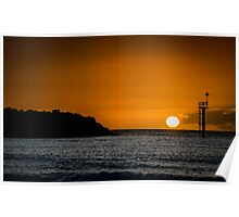 Sunset and the sea Poster