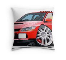 Mitsubishi Evo IX Red Throw Pillow