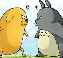 Totoro vs Jake by LTEP