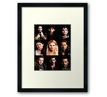 Characters Poster Framed Print