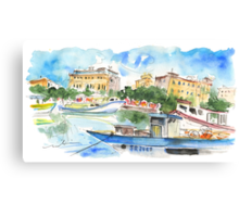 Boats In Siracusa 01 Canvas Print
