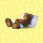 Sleeping Ted - Yellow by ifourdezign