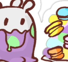 goomy and macarons Sticker