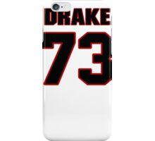 NFL Player Drake Nevis seventythree 73 iPhone Case/Skin