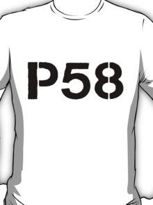 P58 - LOGO BLACK ON WHITE OR LIGHT T-Shirt