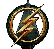 CW Arrow and The Flash Crossover Symbol Shirt by gentilj17