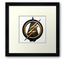 CW Arrow and The Flash Crossover Symbol Shirt Framed Print