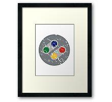 SNES Controller Buttons Framed Print