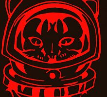THE HOT-SHOT SPACE CAT SMARTPHONE CASE (Graffiti) by leethompson