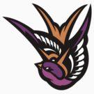 Pink swallow Logo by JamesShannon