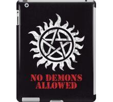 Supernatural - No Demons Allowed [WHITE] iPad Case/Skin