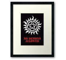 Supernatural - No Demons Allowed [WHITE] Framed Print