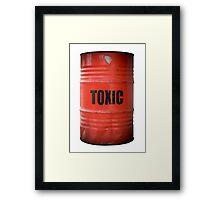 Toxic Waste Barrel Framed Print