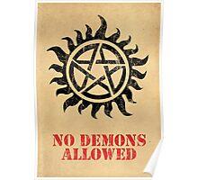 Supernatural - No Demons Allowed [BLACK] Poster