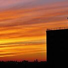 Sunset in the Big City, NYC by Alberto  DeJesus