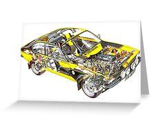 Opel Kadett GTE Greeting Card
