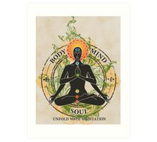 Mind Body and Soul KUNDALINI Art Print