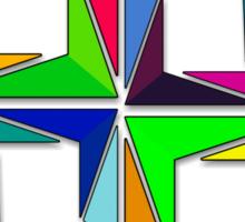 More Like Mondrian  [Contemporary Abstract Art] Sticker