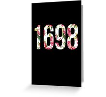 1698 Pink/White Floral Greeting Card