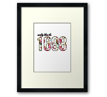 Waltz like it's 1698 Pink/White Floral Framed Print