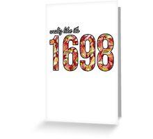 Waltz like it's 1698 Red/Orange Floral Greeting Card