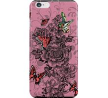 Roses and Butterfly iPhone Case/Skin