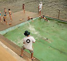 On yer marks, get set, splash! by Tim Heraud