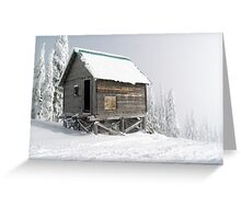 Snow Shack Greeting Card