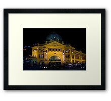 Stopping All Stations Framed Print