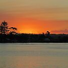 'After Glow' Richmond River Outlet, 'Ballina' N.S.W. Nth. Coast. by Rita Blom