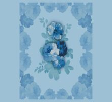 Blue Rose Flowers #2 Kids Clothes