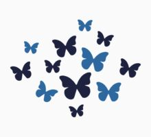 Colored butterflies by Designzz