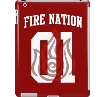 Fire Nation Jersey #01 iPad Case/Skin
