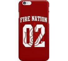 Fire Nation Jersey #02 iPhone Case/Skin