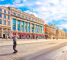 Crossing O'Connell Street - Dublin Ireland by Mark Tisdale