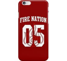 Fire Nation Jersey #05 iPhone Case/Skin