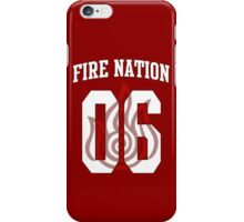 Fire Nation Jersey #06 iPhone Case/Skin