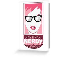 The Nerdy Stripper Logo Greeting Card