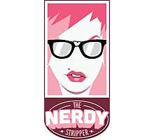 The Nerdy Stripper Logo Photographic Print