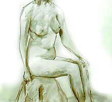 2007 Nude Female Study by Simon Collins