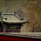 Walled temple, Wutai Shan, China 2006 by John Tozer