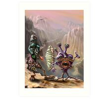 Three Friends cross the Atlip desert Art Print