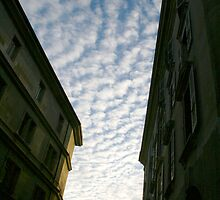 Cloudy Over Old Town by Akira